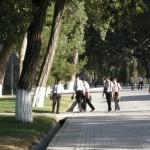 studenti al parco Navoi (Samarcanda, Uzbekistan)