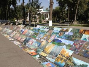 nei pressi di piazza Mustaqillik (Tashkent)