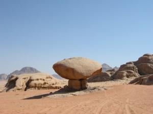 formazione rocciosa del Wadi Rum (Giordania)
