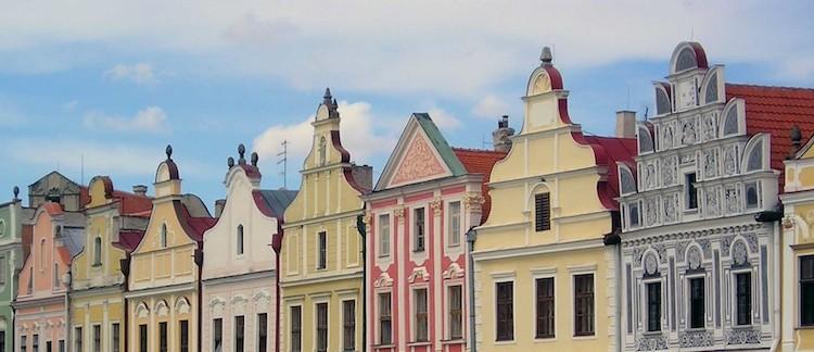 Piazza di Telc (Repubblica Ceca)