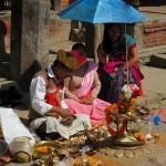 rituale presso il Tempio di Rato Machhendranath (Bungamati, Nepal)