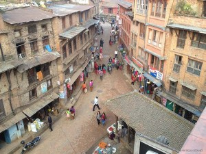 la strada per Taumadhi Tole (Bhaktapur, Nepal)