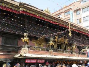 Tempio di Akash Bhairab a Indra Chowk (Kathmandu, Nepal)