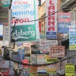 insegne commerciali di Thamel (Kathmandu, Nepal)