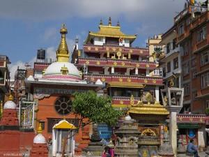 nella piazzetta di Kathesimbhu (Kathmandu, Nepal)