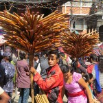 venditore di flauti a Indra Chowk (Kathmandu, Nepal)