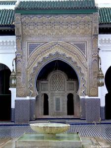 cortile interno della Medersa Bou Inania (Fes, Marocco)