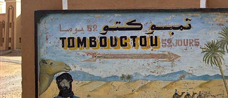 insegna per Timbuctu (Zagora, Marocco)