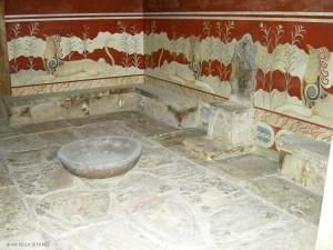 Palazzo di Cnosso, sala del trono (Creta, Grecia)