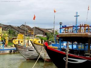 imbarcazioni sul fiume Hoai (Hoi An, Vietnam)