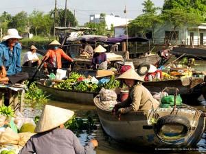 venditori di frutta sul Mekong (Can Tho, Vietnam)