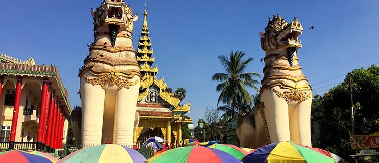 Shwemawdaw Pagoda, ingresso (Bago, Myanmar - Birmania)