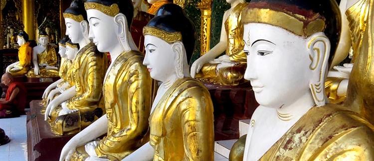 Shwedagon Paya, cortile interno (Yangon, Myanmar)