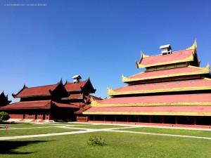 Palazzo Reale, cortile interno (Mandalay, Myanmar - Birmania)