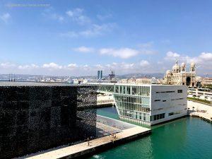 panoramica sul museo e la Cattedrale (Marsiglia, Francia)
