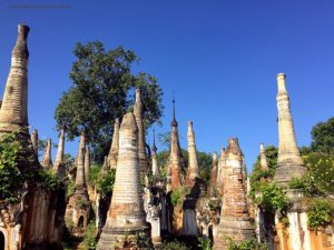 stupa antichi della Shwe Inn Thein Paya (Inthein, Myanmar)