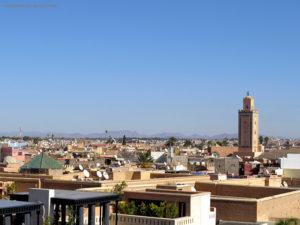 vista sulla Koutoubia (Marrakech, Marocco)