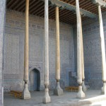 cortile interno del Kuhna Ark (Khiva, Uzbekistan)