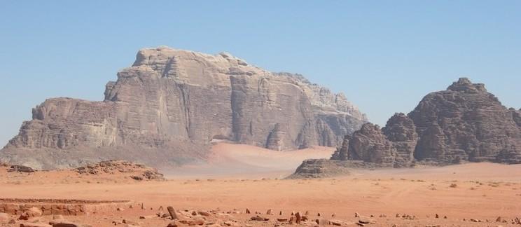 vista sul Wadi Rum (Giordania)