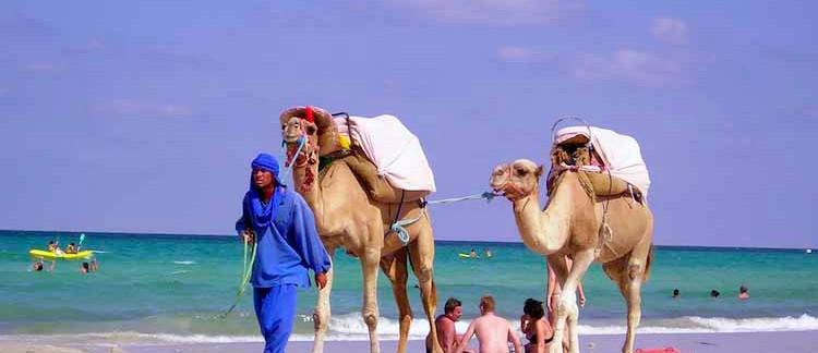 la spiaggia di Djerba (Tunisia)