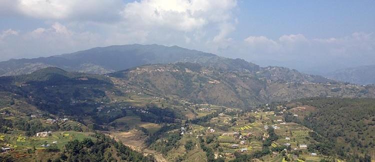 vallata sulla strada per Nagarkot (Nepal)
