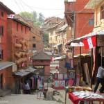 salita al Tempio di Changu Narayan (Nepal)