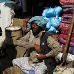 venditore di uova a Indra Chowk (Kathmandu, Nepal)