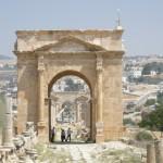 vista sul Cardus Maximus (Jerash, Giordania)