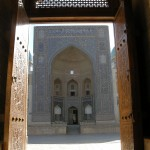 vista sulla Medressa Miri Arab (Bukhara, Uzbekistan)