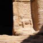 Tomba dei Leoni, particolare (Petra, Giordania)