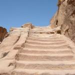 ascesa per l'Altura del Sacrificio a Petra (Giordania)