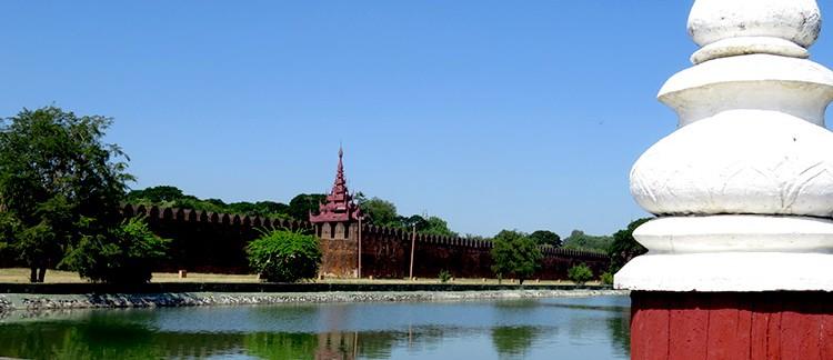 mura del Palazzo Reale (Mandalay, Myanmar - Birmania)