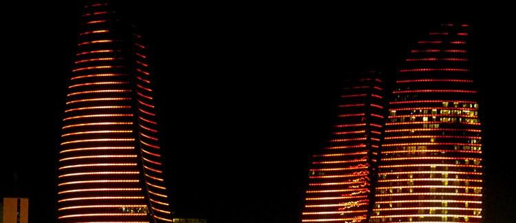 Flame Towers (Baku, Azerbaijan)
