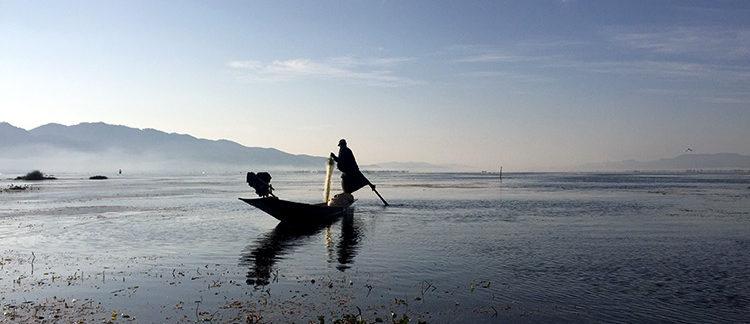 pescatore sul lago Inle (Myanmar - Birmania)